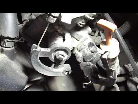 замена стартера Toyota Corolla 1ZZ Simple Follow starter motor Replacement