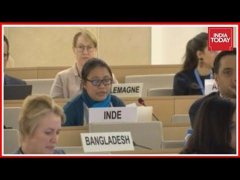 India Shames Pakistan Over Jammu & Kashmir At UN Rights Council Meet