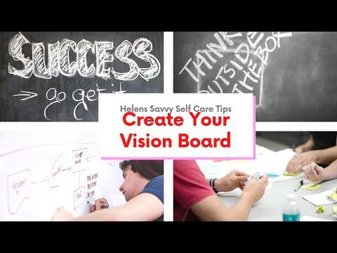 how to create a dream vision board