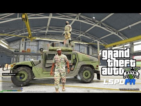 GTA 5 LSPDFR EPiSODE 94 - LET'S BE COPS - MILITARY PATROL (GTA 5 PC POLICE MODS) HUMVEE+ SCORPION W2