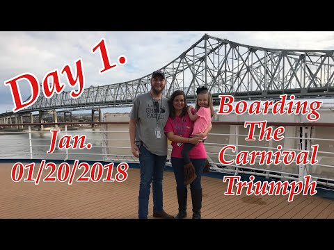 Carnival Cruise 01/20/2018 - New Orleans to Cozumel Mexico on the Triumph / Day 1.