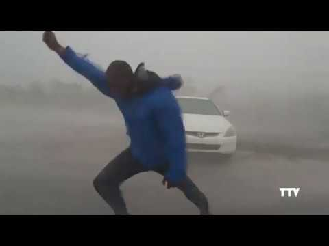 Man vs Hurricane Irma(117 mph wind gust)