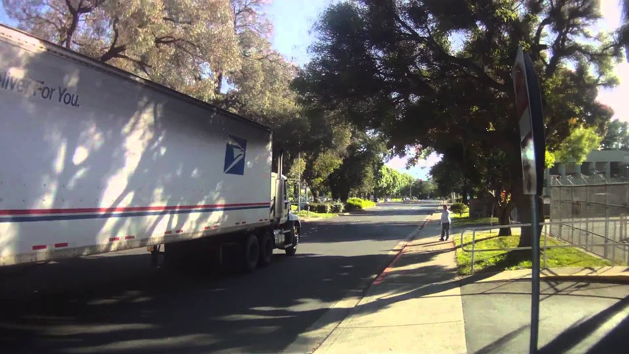 Usps Semi Truck Driver On The Cell Phone 8785680