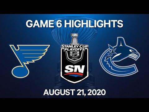 NHL Highlights | 1st Round, Game 6: Blues Vs. Canucks - Aug. 21, 2020