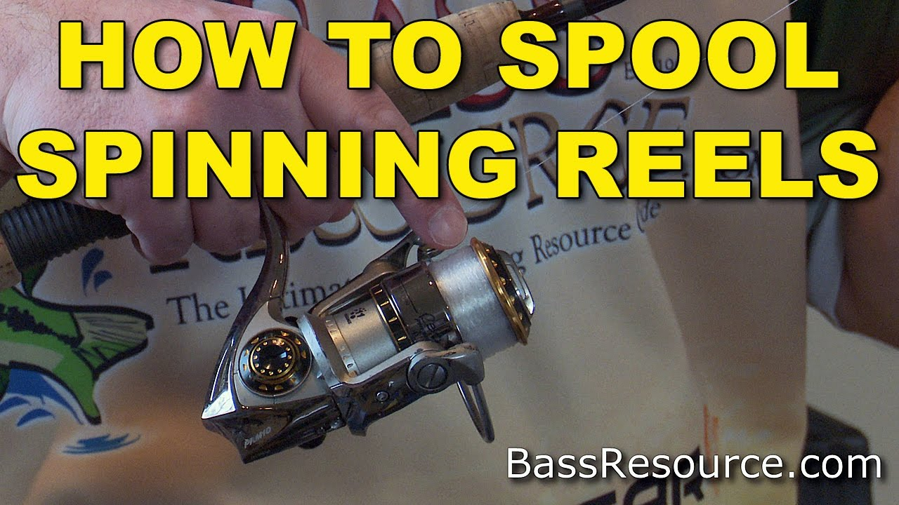 How to Spool a Spinning Reel   Spool Line