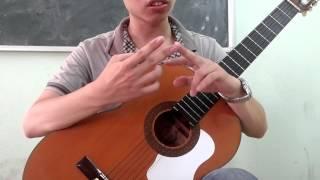 Tập guitar căn bản theo phương pháp cổ điển (bài 1)