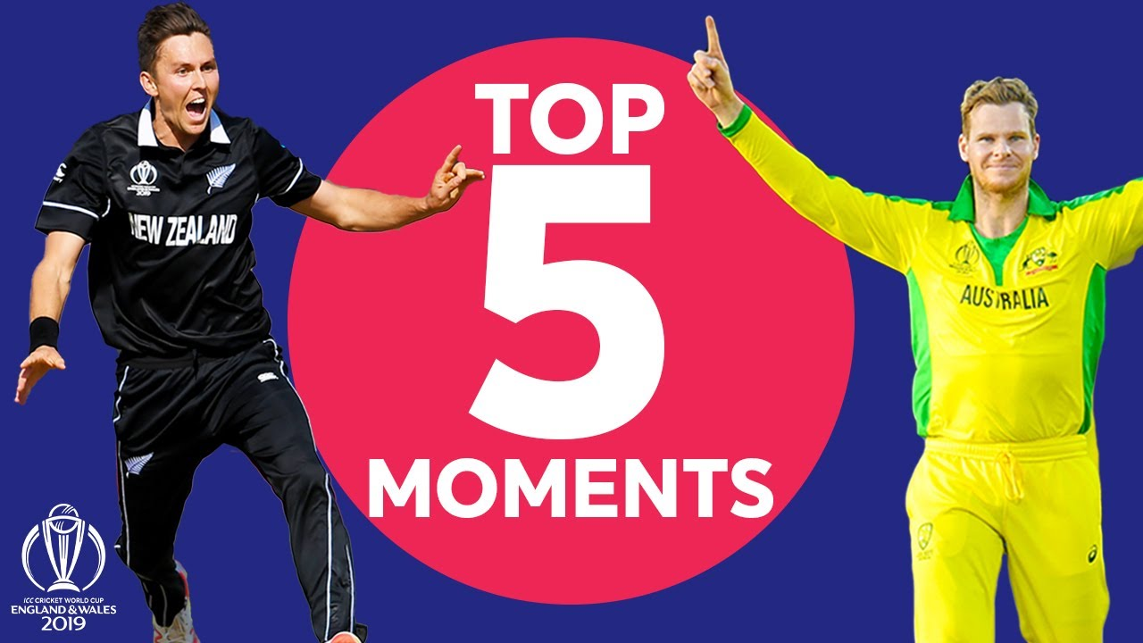 A Hat-Trick and Big Catches! | Australia vs New Zealand - Top 5 Moments | ICC Cricket World Cup 2019