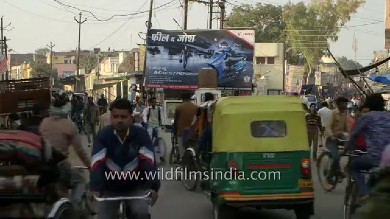 Chaotic Mix Of Traffic In Badaun Uttar Pradesh Youtube