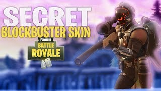 New SECRET BLOCKBUSTER SKIN Gameplay! The Visitor (Fortnite Battle Royale)