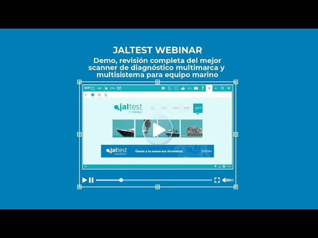 JALTEST WEBINAR | Jaltest Marine. Demo, revisión completa