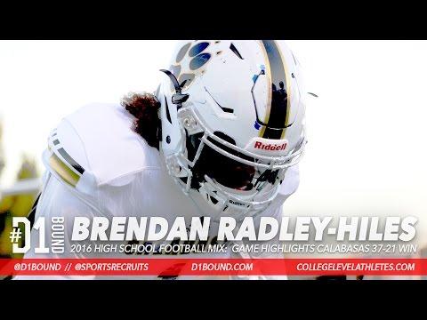 "THE NEXT TYRANN MATHIEU: Brendan ""Bookie"" Radley-Hiles '18 DB Football Highlights (Calabasas)"