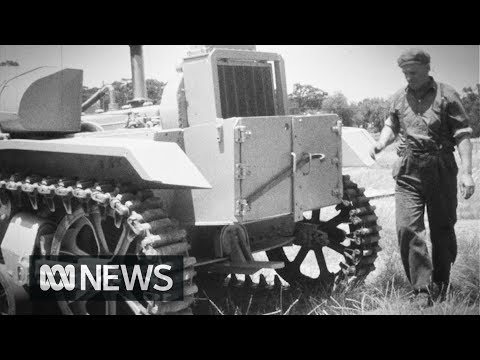 Farmer Builds Equipment Out Of Old Army Tanks (1963) | RetroFocus