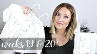 Twin Pregnancy Vlog Weeks 19 + 20: Baby Clothes, Journals, Kicks | Kendra Atkins