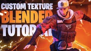 How to CREATE & TEXTURE Custom Fortnite skins in Blender (Thumbnail Tutorial) - Blender