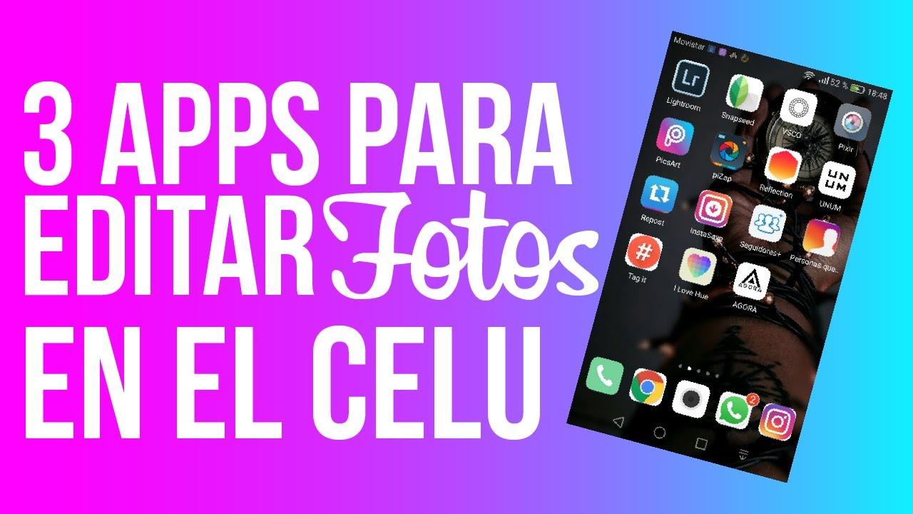 Aplicaciones para editar fotos en el celular youtube for Aplicaciones para disenar