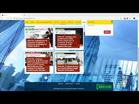 Video Guida - Bandi Della Regione E Fondi Europei, Ricerca E Tipi Di Progetti, FESR FSE