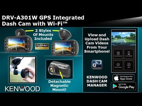 KENWOOD DRV-A301W GPS Integrated Dash Cam with Wi-Fi™ (Drive Recorder)