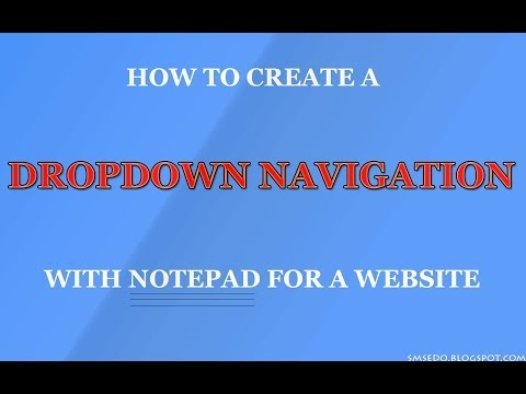 How To Create A Drop-down Navigation Bar With Notepad In HTML