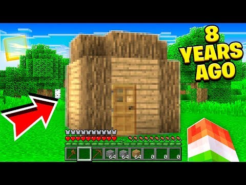 PLAYING MY FIRST MINECRAFT WORLD I MADE! (8 YEARS AGO)
