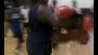 Heavyweight boxing at that PC gym