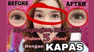 Bulu Mata Panjang dalam 5 menit!! Hanya Dengan KAPAS ?! Wow || how to make your eyelashes longer