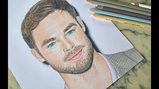 Speed Drawing/ How to draw Chris Pine | Lily Fee