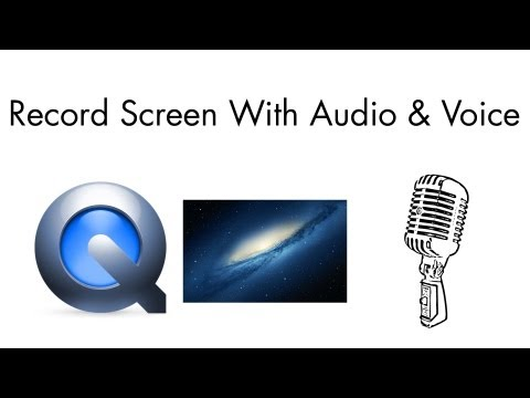 Quicktime Screen Recording With Audio & Voice