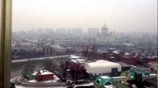 Зимняя Москва 2013. Вид из Президент-Отеля.(, 2013-03-16T10:33:23.000Z)