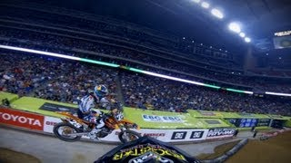 GoPro: Blake Wharton Main Event 250 WIN – 2013 Monster Energy Supercross from Houston, TX