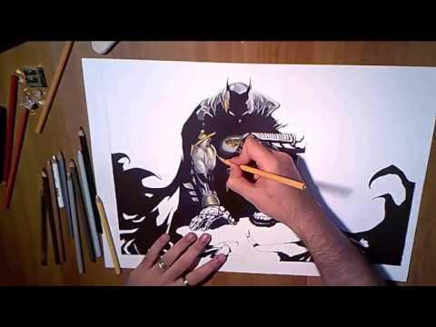 Speed drawing Batman the dark knight DC COMICS