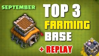 Clash Of Clans - TOP 3 TH8 (Town Hall 8) Farming Base + Replay ♦ September 2016