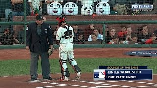 WS2014 Gm5: Home plate umpire mic'd up during Game 5