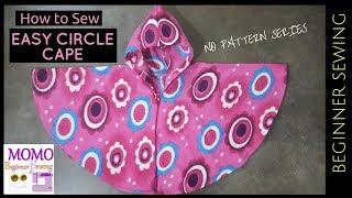 How to Sew: Easy Circle Cape for winter - without Pattern