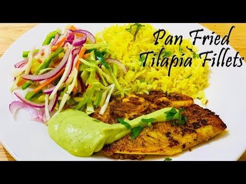 Pan Fried Tilapia Fillets with Garlic Rice | Tilapia Fillets | Fish Fillets | Quick Tilapia Recipe