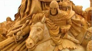 Скульптура из песка Святая Русь