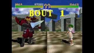 Battle Arena Toshinden 1 [PS1] - play as Gaia