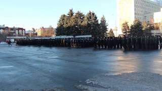 Cмотр полиции на Театральной площади