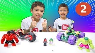 BRINCANDO COM LEGO | Hulk Verde vs Hulk Vermelho | Terminamos o Hulk Verde | Parte 2