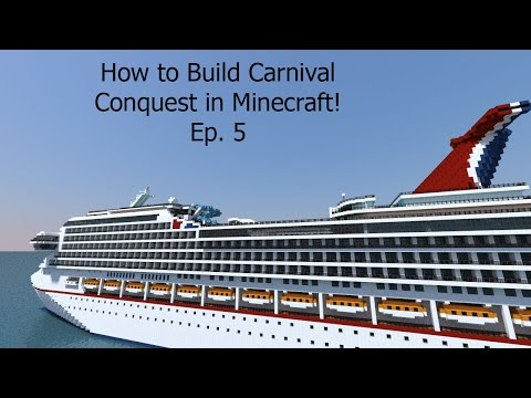 How To Build A Cruise Ship In Minecraft! Building Carnival Conquest Ep. 5