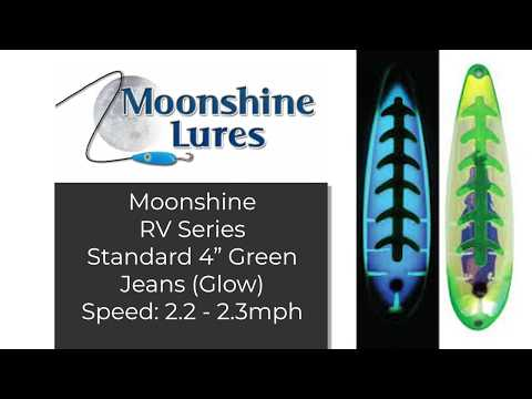 REVIEW - Moonshine Fishing Lures, Salmon Trolling Underwater Speed 2.2 - 2.3mph