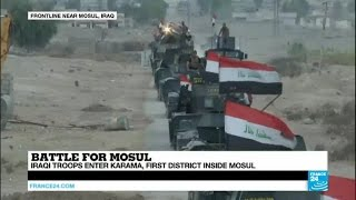 Iraq: Elite Forces enter Karama, the first district inside Mosul
