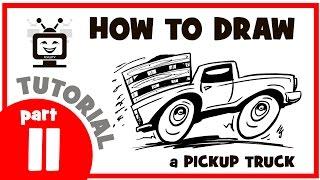 How to draw a pickup truck. Part 11. Мастер класс. Как нарисовать пикап. Часть 11.
