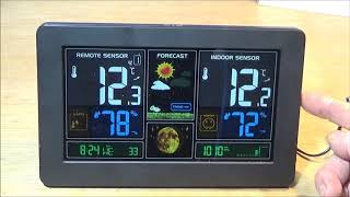 The Smart Digital Wireless Color LCD Barometric Weather Station
