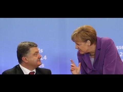 Меркель поставила Порошенко на место, после его мягко говоря вранья.  Итоги переговоров