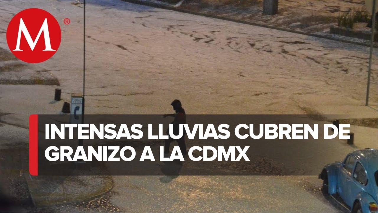 Lluvia y granizo dejan daños en varias alcaldías de México