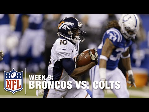 Emmanuel Sanders Hits 21 MPH on 64-yard TD | Broncos vs. Colts | NFL