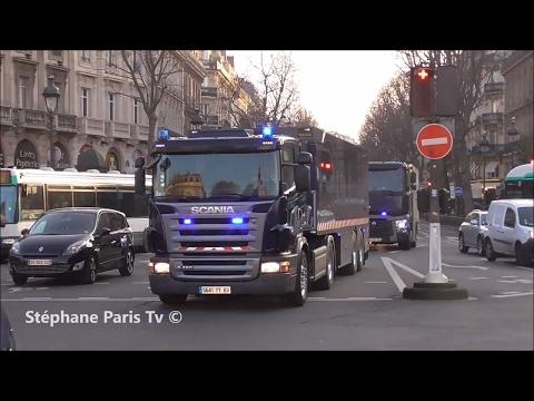 Police Escort Trucks From Banks In Paris