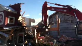 Demo of the old Trail Dust Restaurant  part 4