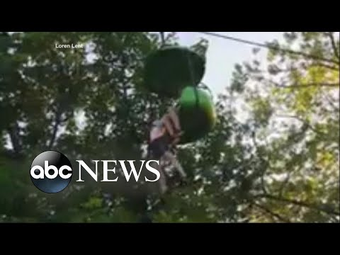 Thumbnail: Video shows moment teen falls over 20 feet from amusement park ride