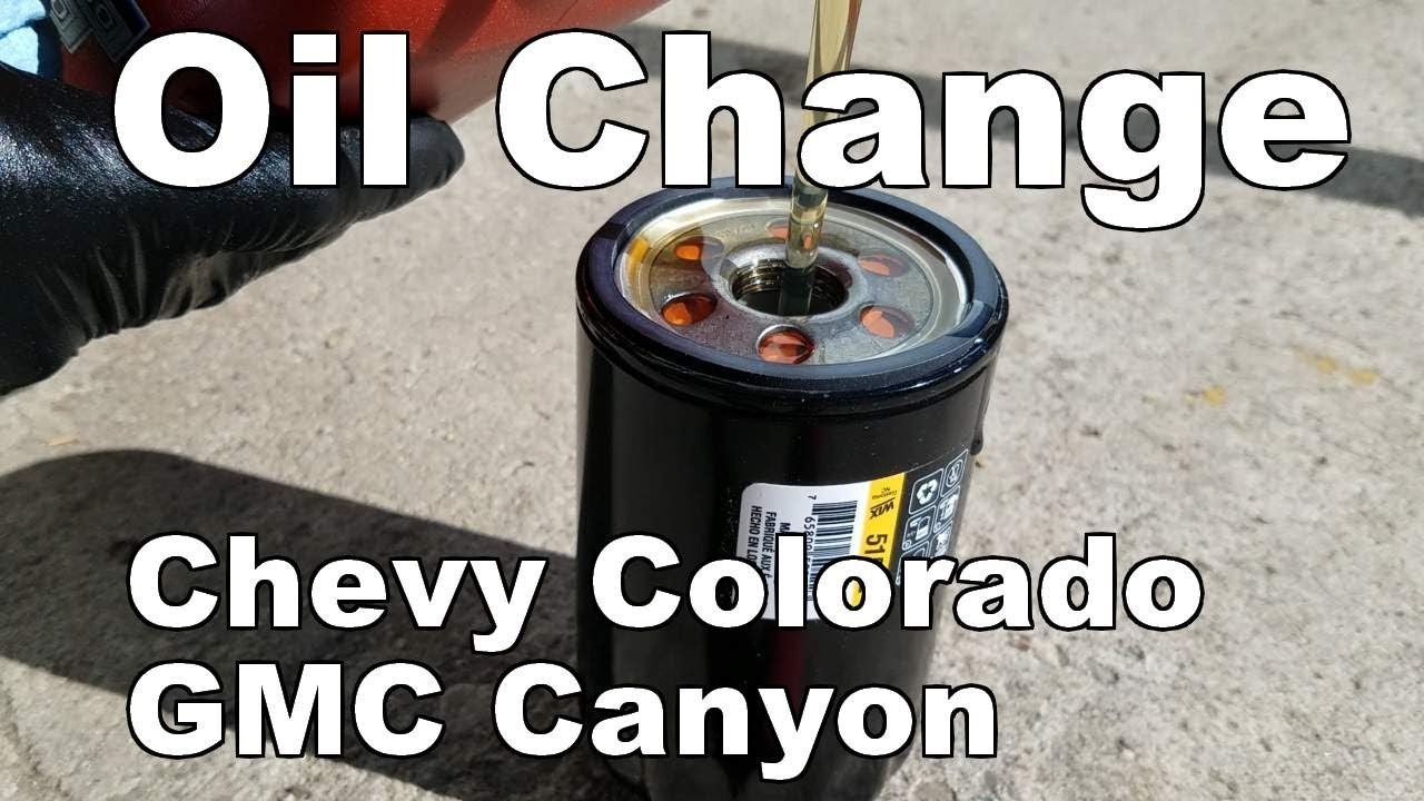 Oil Change Chevy Colorado 2004 2006 How To Change Oil Gmc Canyon